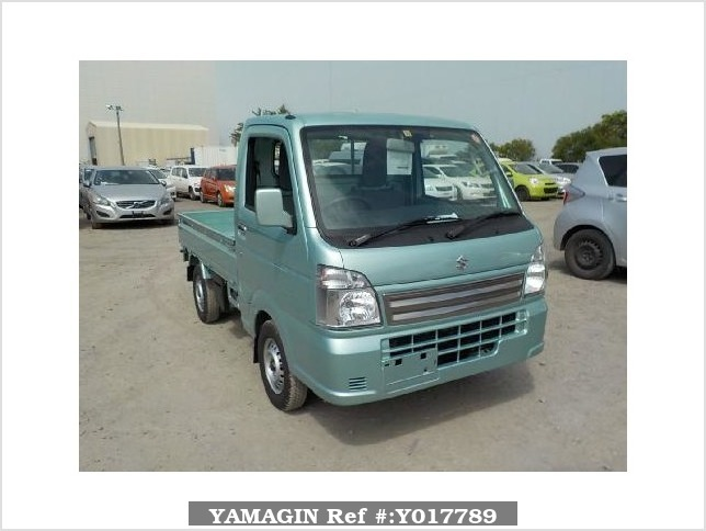It is a picture of the green suzuki carry truck in 2017,Sub Photo 0 Stock No.Y017789