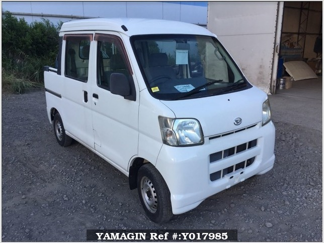 It is a picture of the white daihatsu hijet deck van in 2005,Sub Photo 0 Stock No.Y017985