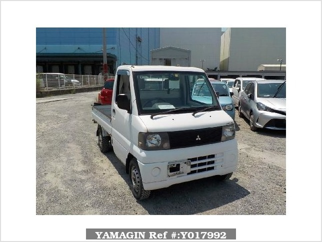 It is a picture of the white mitsubishi minicab truck in 2001,Sub Photo 0 Stock No.Y017992