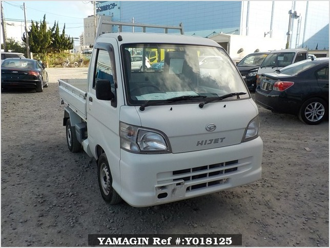 It is a picture of the white daihatsu hijet  scissors dump in 2012,Sub Photo 0 Stock No.Y018125