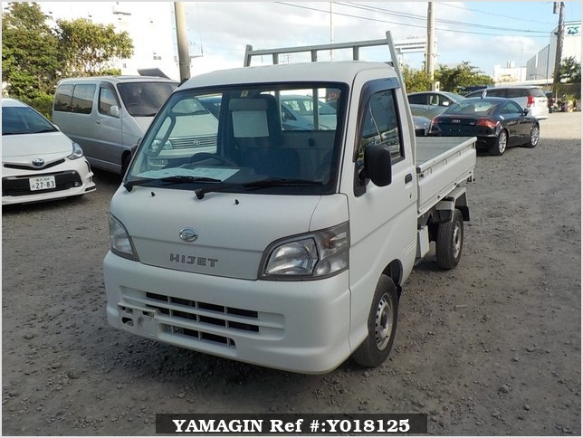 It is a picture of the white daihatsu hijet  scissors dump in 2012,Sub Photo 1 Stock No.Y018125