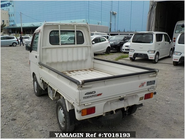 It is a picture of the white daihatsu hijet  truck in 1996,Sub Photo 3 Stock No.Y018193
