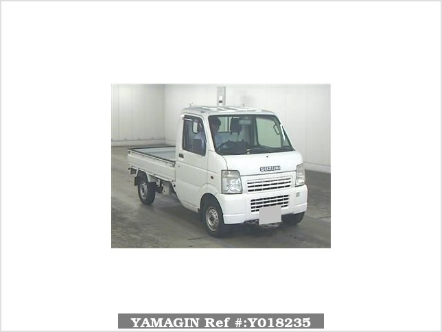 It is a picture of the white suzuki carry truck in 2003,Sub Photo 11 Stock No.Y018235