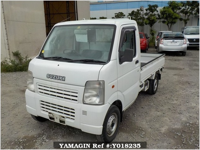 It is a picture of the white suzuki carry truck in 2003,Sub Photo 2 Stock No.Y018235
