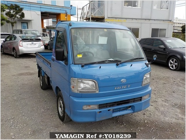 It is a picture of the blue daihatsu hijet  truck in 2000,Sub Photo 0 Stock No.Y018239