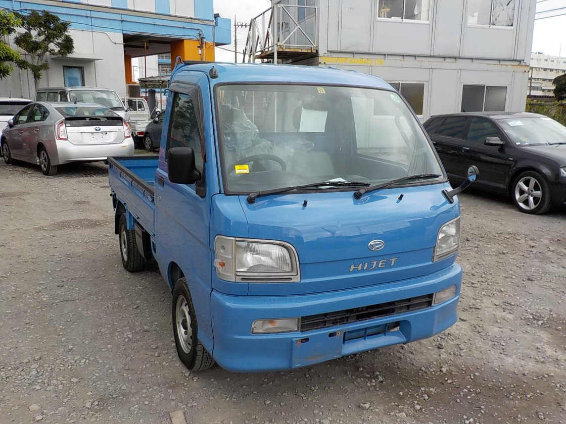 It is a picture of the blue daihatsu hijet  truck in 2000,First Photo Stock No.Y018239