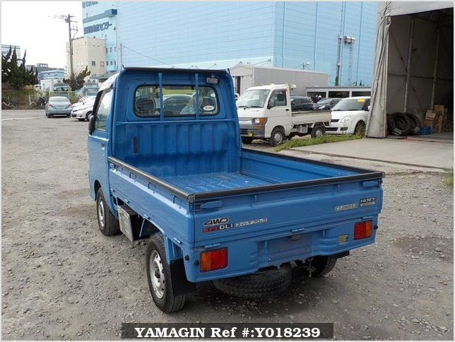 It is a picture of the blue daihatsu hijet  truck in 2000,Sub Photo 3 Stock No.Y018239