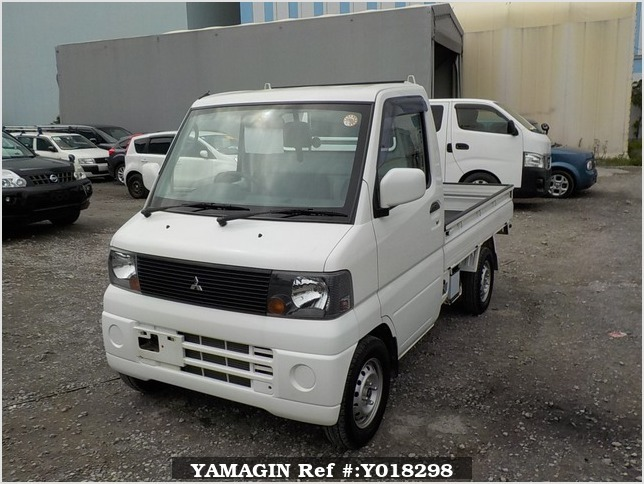 It is a picture of the white mitsubishi minicab truck in 2005,Sub Photo 1 Stock No.Y018298