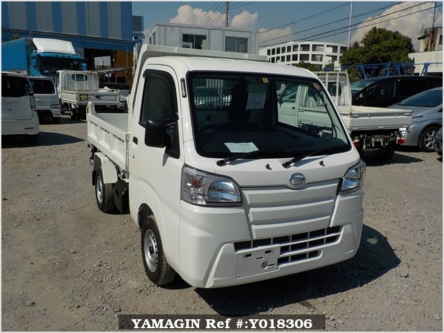 It is a picture of the white daihatsu hijet  dump in 2017,Sub Photo 1 Stock No.Y018306