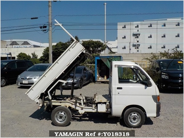 It is a picture of the white daihatsu hijet  scissors dump in 1997,Sub Photo 16 Stock No.Y018318