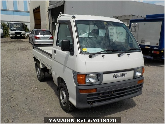 It is a picture of the white daihatsu hijet truck in 1998,Sub Photo 0 Stock No.Y018470