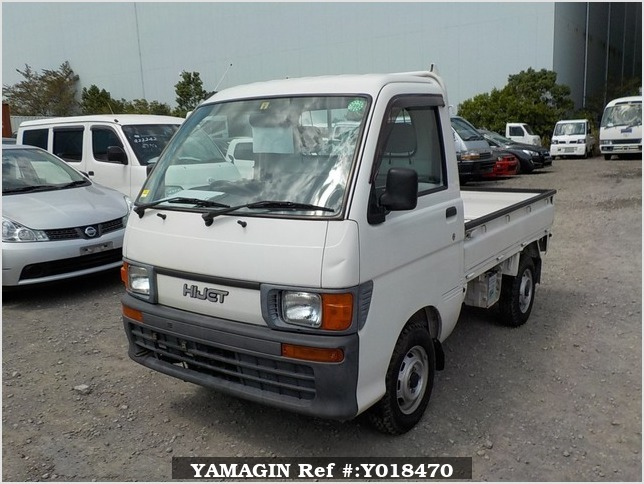 It is a picture of the white daihatsu hijet truck in 1998,Sub Photo 1 Stock No.Y018470