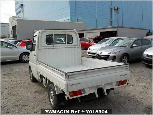 It is a picture of the white mitsubishi minicab truck in 2002,Sub Photo 3 Stock No.Y018504