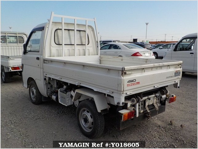 It is a picture of the white daihatsu hijet  scissors dump in 1995,Sub Photo 4 Stock No.Y018605