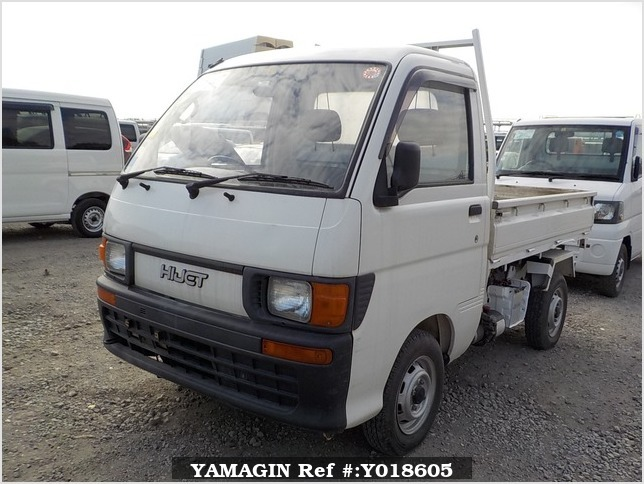 It is a picture of the white daihatsu hijet  scissors dump in 1995,Sub Photo 1 Stock No.Y018605