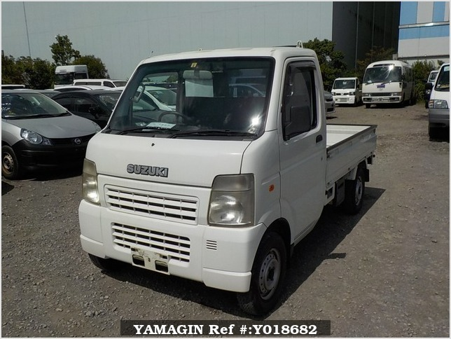 It is a picture of the white suzuki carry truck in 2007,Sub Photo 1 Stock No.Y018682