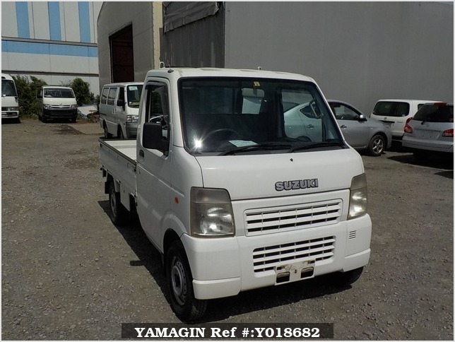 It is a picture of the white suzuki carry truck in 2007,Sub Photo 0 Stock No.Y018682