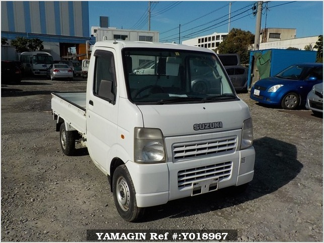 It is a picture of the white suzuki carry truck in 2007,Sub Photo 0 Stock No.Y018967