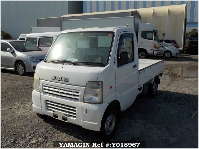 It is a picture of the white suzuki carry truck in 2007,Sub Photo 1 Stock No.Y018967