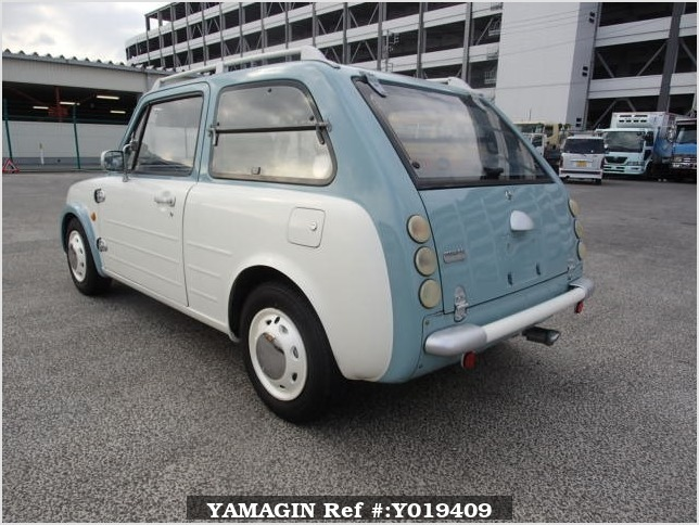 It is a picture of the light blue nissan pao in 1990,Sub Photo 3 Stock No.Y019409