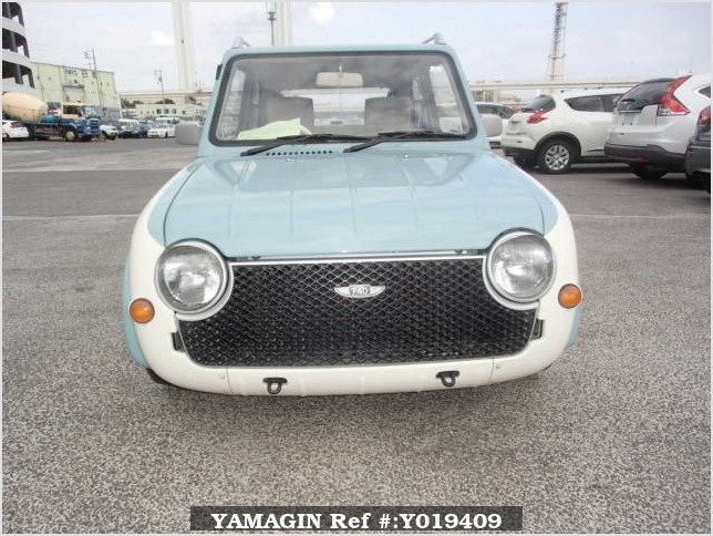 It is a picture of the light blue nissan pao in 1990,Sub Photo 10 Stock No.Y019409