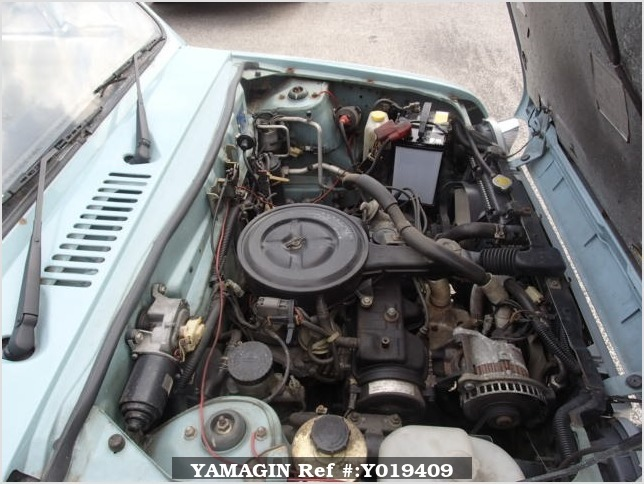 It is a picture of the light blue nissan pao in 1990,Sub Photo 6 Stock No.Y019409