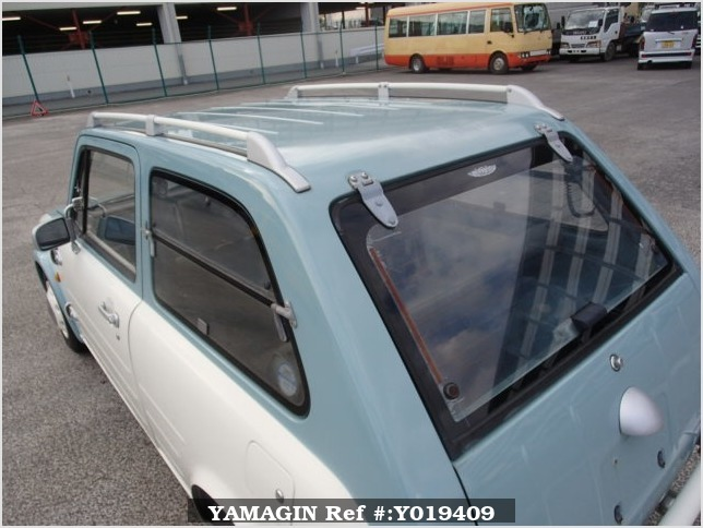 It is a picture of the light blue nissan pao in 1990,Sub Photo 12 Stock No.Y019409