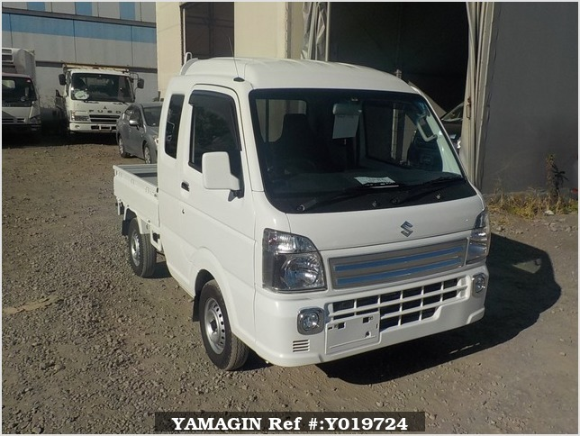 It is a picture of the white suzuki carry jumbo in 2018,Sub Photo 0 Stock No.Y019724