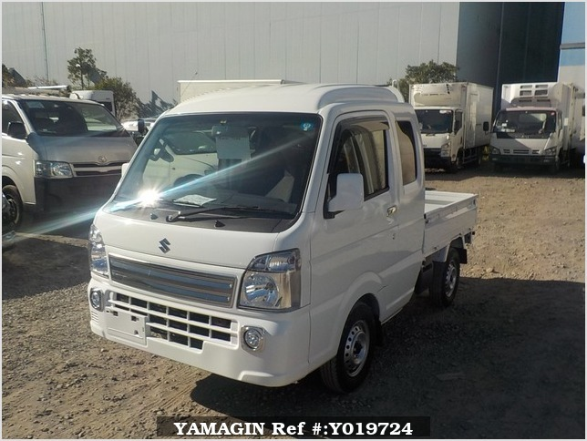 It is a picture of the white suzuki carry jumbo in 2018,Sub Photo 1 Stock No.Y019724