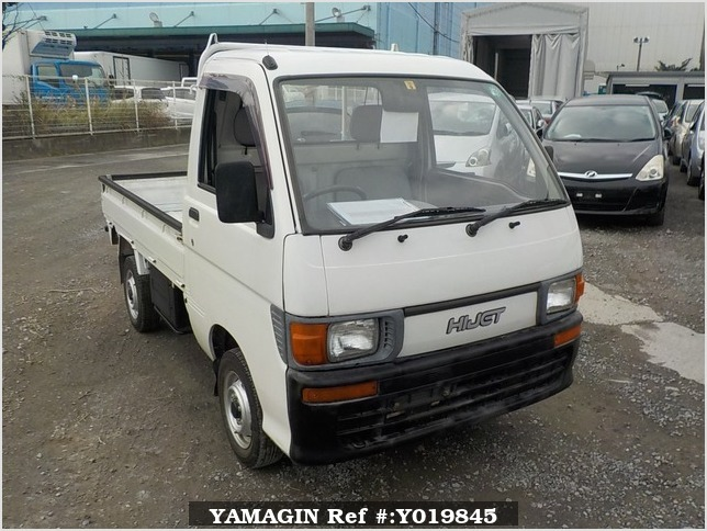 It is a picture of the white daihatsu hijet truck in 1994,Sub Photo 0 Stock No.Y019845