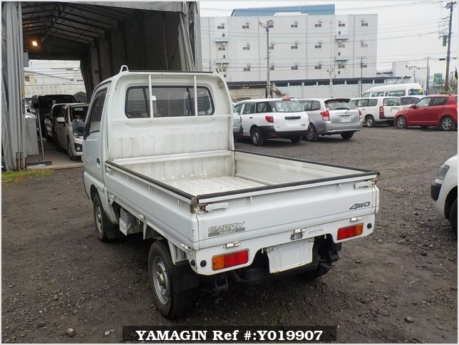 It is a picture of the white suzuki carry truck in 1992,Sub Photo 3 Stock No.Y019907