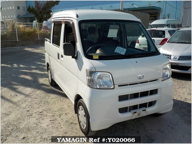 It is a picture of the white daihatsu hijet deck van in 2006,Sub Photo 0 Stock No.Y020066