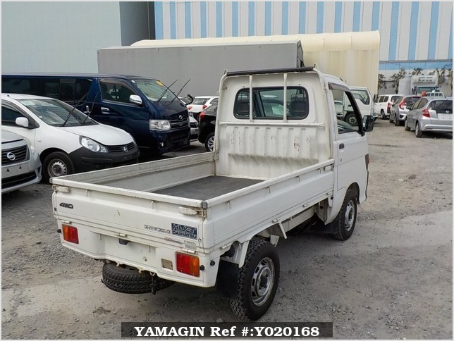 It is a picture of the white daihatsu hijet  truck in 1997,Sub Photo 2 Stock No.Y020168