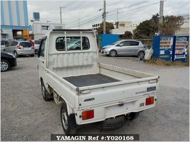 It is a picture of the white daihatsu hijet  truck in 1997,Sub Photo 3 Stock No.Y020168
