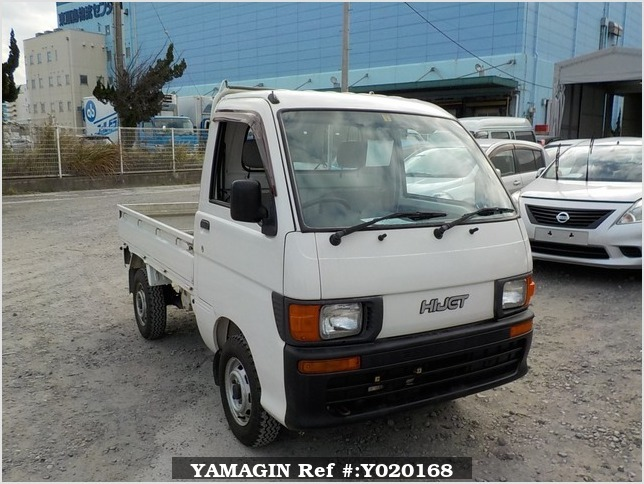 It is a picture of the white daihatsu hijet  truck in 1997,Sub Photo 0 Stock No.Y020168