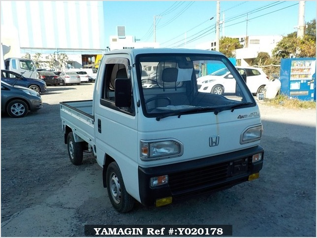 It is a picture of the white honda acty truck in 1991,Sub Photo 12 Stock No.Y020178