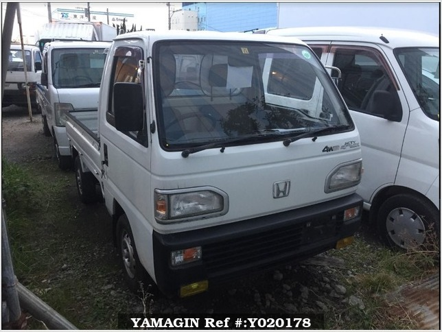 It is a picture of the white honda acty truck in 1991,Sub Photo 0 Stock No.Y020178
