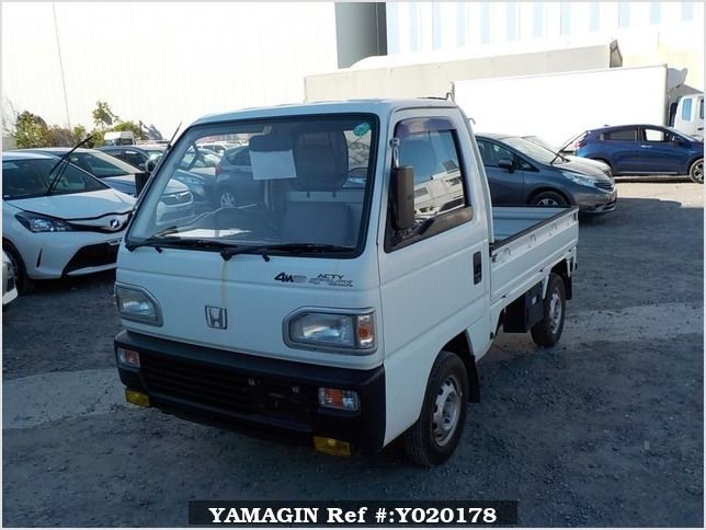It is a picture of the white honda acty truck in 1991,Sub Photo 13 Stock No.Y020178
