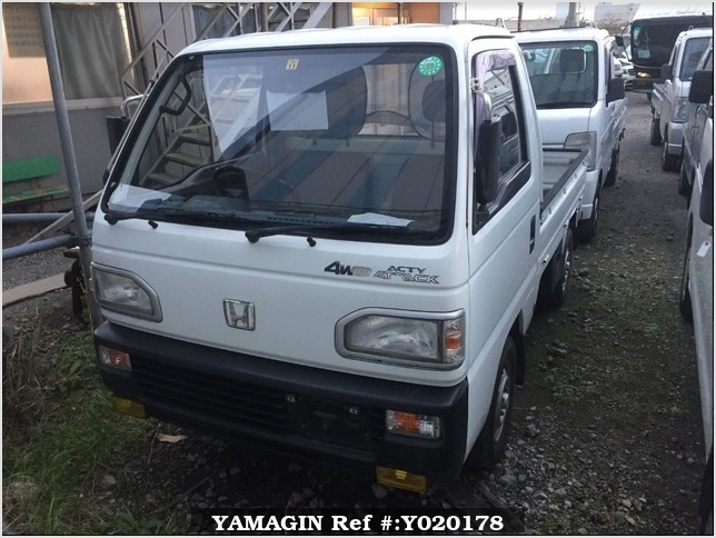 It is a picture of the white honda acty truck in 1991,Sub Photo 1 Stock No.Y020178
