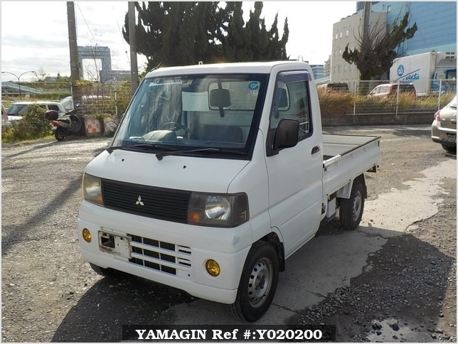 It is a picture of the white mitsubishi minicab truck in 2005,Sub Photo 1 Stock No.Y020200
