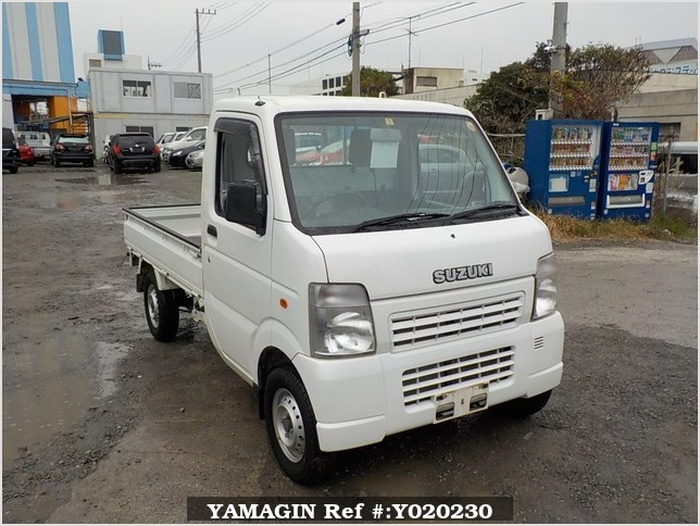 It is a picture of the white suzuki carry truck in 2009,Sub Photo 0 Stock No.Y020230