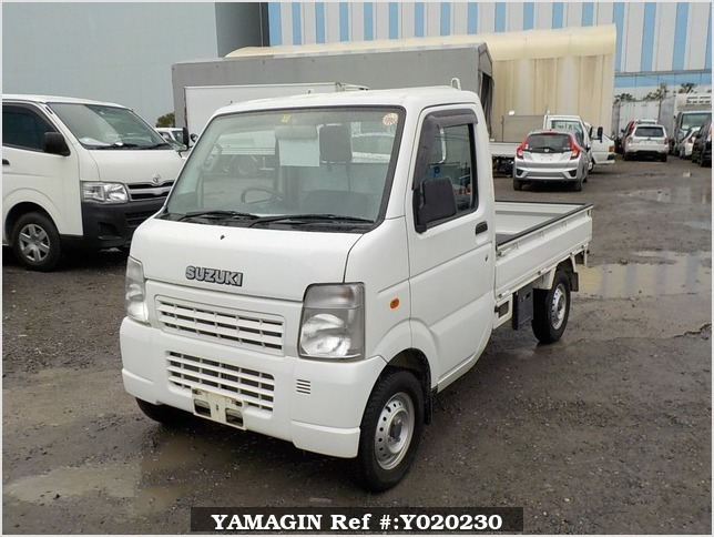 It is a picture of the white suzuki carry truck in 2009,Sub Photo 1 Stock No.Y020230