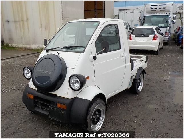 It is a picture of the  white   daihatsu midget ii truck in 1996,Sub Photo 1 Stock No.Y020366