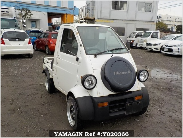 It is a picture of the  white   daihatsu midget ii truck in 1996,Sub Photo 0 Stock No.Y020366