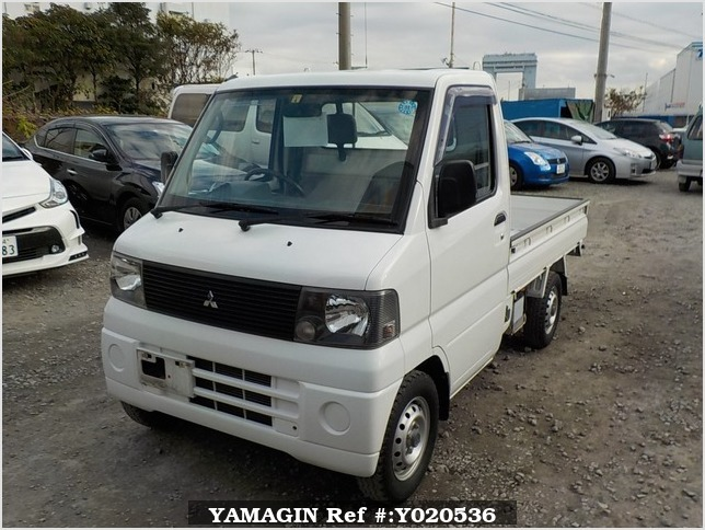 It is a picture of the white mitsubishi minicab truck in 2001,Sub Photo 1 Stock No.Y020536