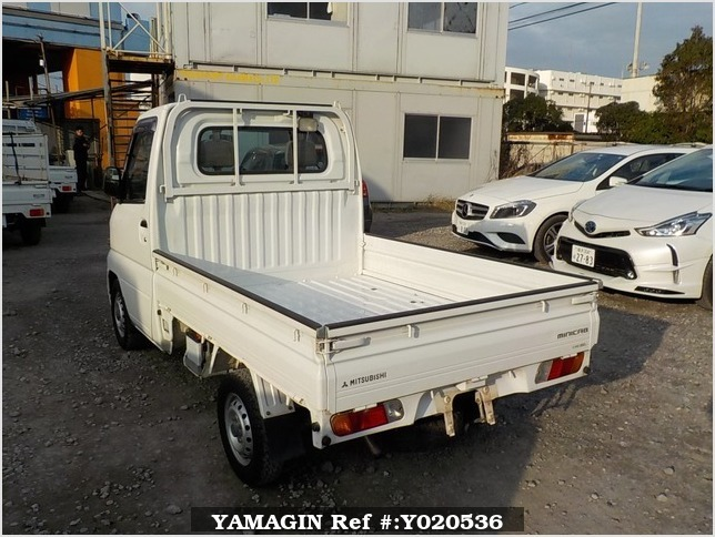 It is a picture of the white mitsubishi minicab truck in 2001,Sub Photo 3 Stock No.Y020536