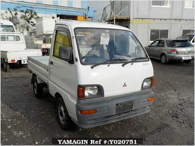 It is a picture of the white mitsubishi minicab truck in 1994,Sub Photo 0 Stock No.Y020751