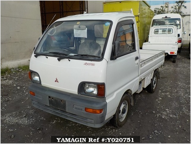 It is a picture of the white mitsubishi minicab truck in 1994,Sub Photo 1 Stock No.Y020751