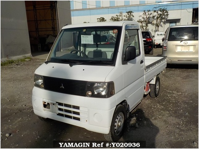 It is a picture of the white mitsubishi minicab truck in 2001,Sub Photo 1 Stock No.Y020936