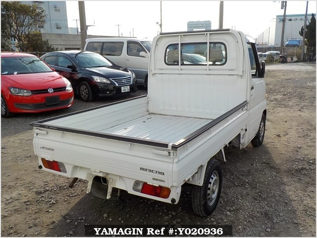 It is a picture of the white mitsubishi minicab truck in 2001,Sub Photo 2 Stock No.Y020936